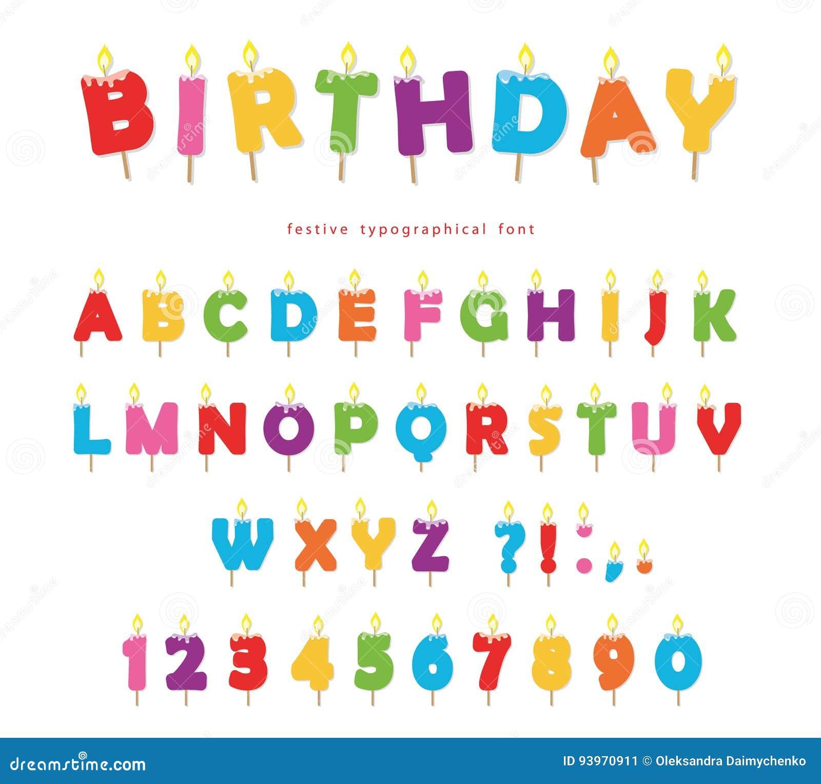 Abc Verjaardag.De Verjaardag Schouwt Kleurrijk Doopvontontwerp De Heldere