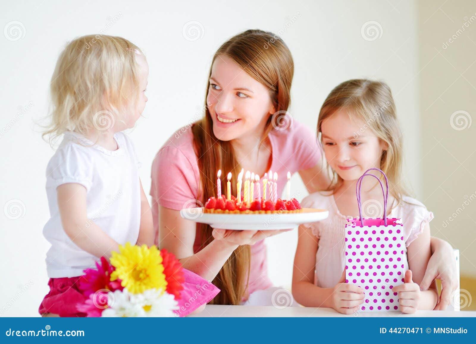 De verjaardag van de mama