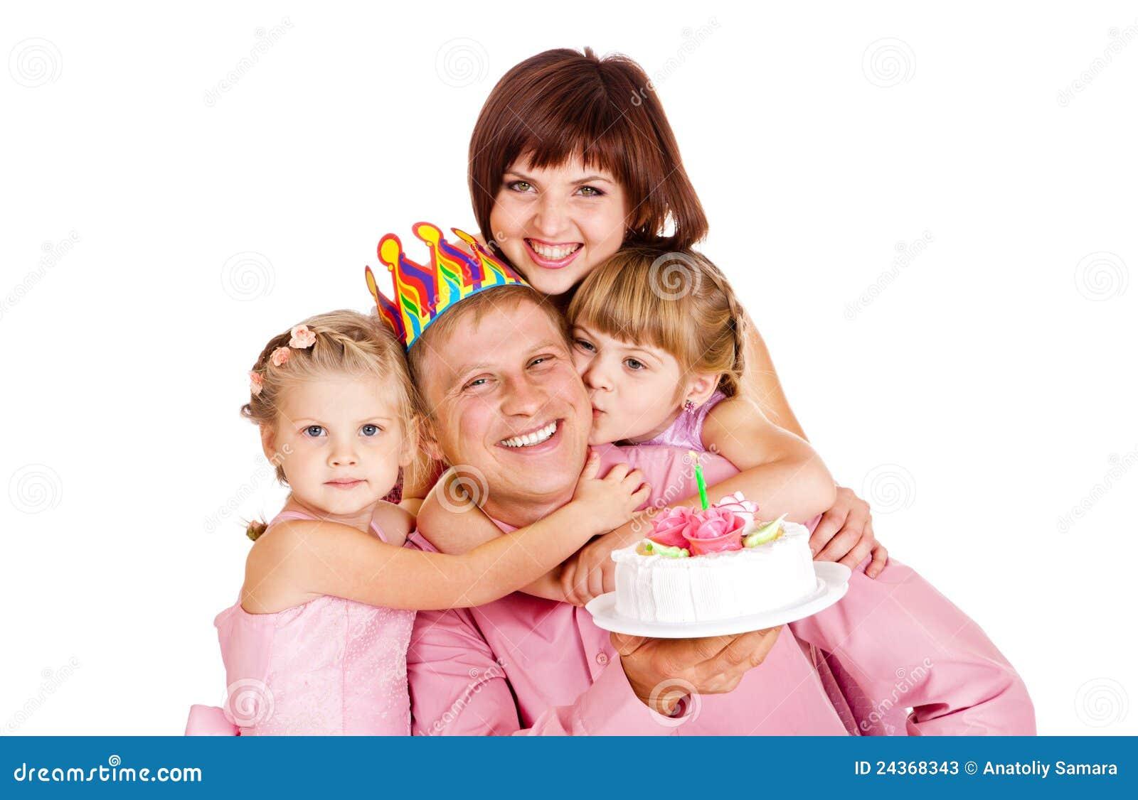 De verjaardag van de papa
