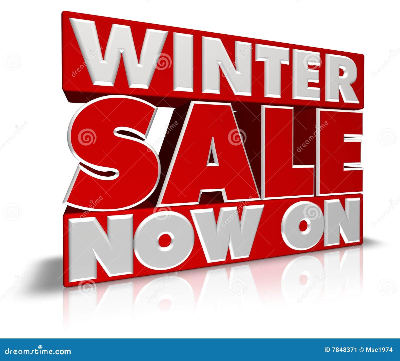 De Verkoop van de winter nu