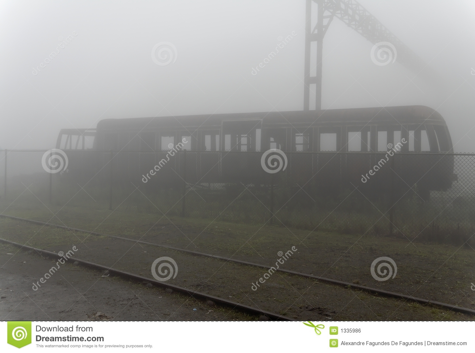 De verlaten Auto van de Spoorweg van de Ziekenwagen