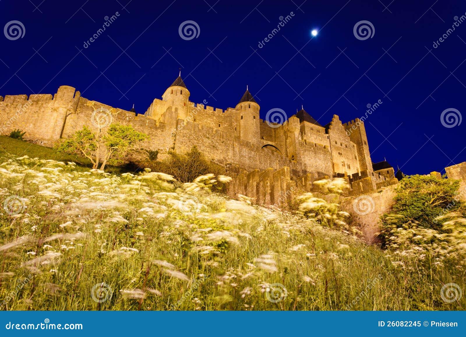 https://thumbs.dreamstime.com/z/de-verlichte-bloemen-van-murentorens-van-carcassonne-26082245.jpg