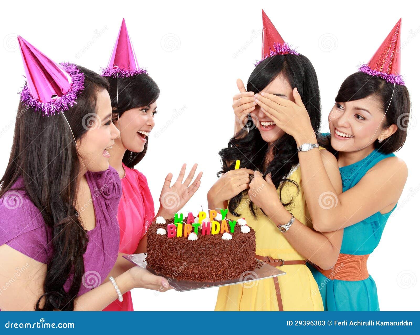 De Verrassing Van De Verjaardag Stock Afbeelding Afbeelding