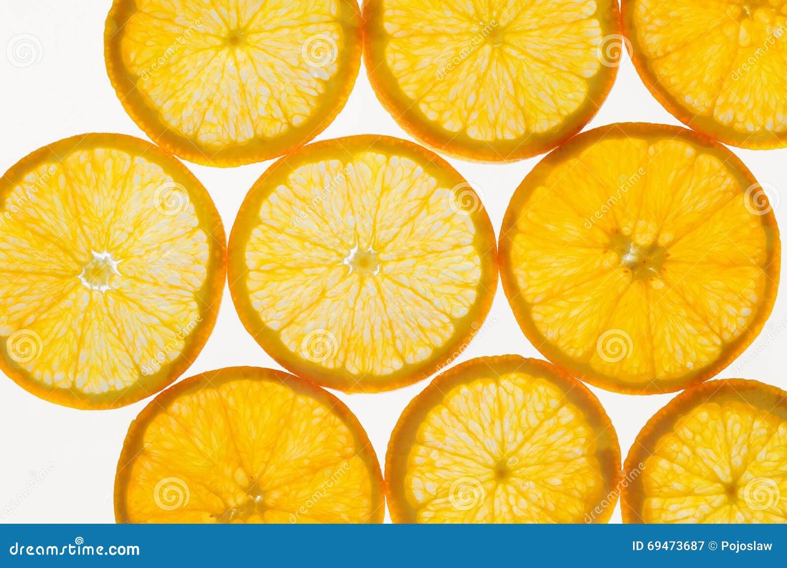 De vers fruitplakken vatten naadloze patroonachtergrond, sinaasappelen samen