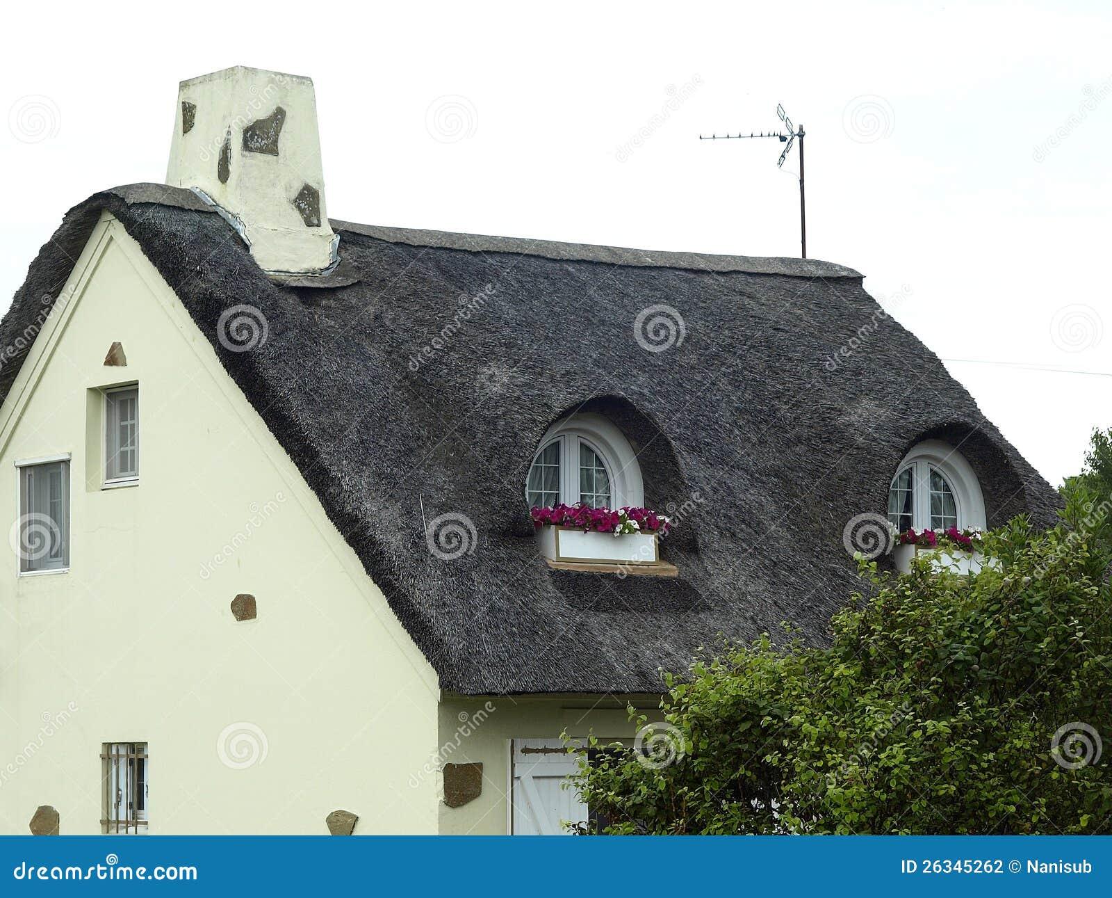 De verschillende stijlen van bretagne van huizen stock for Huizen stijlen