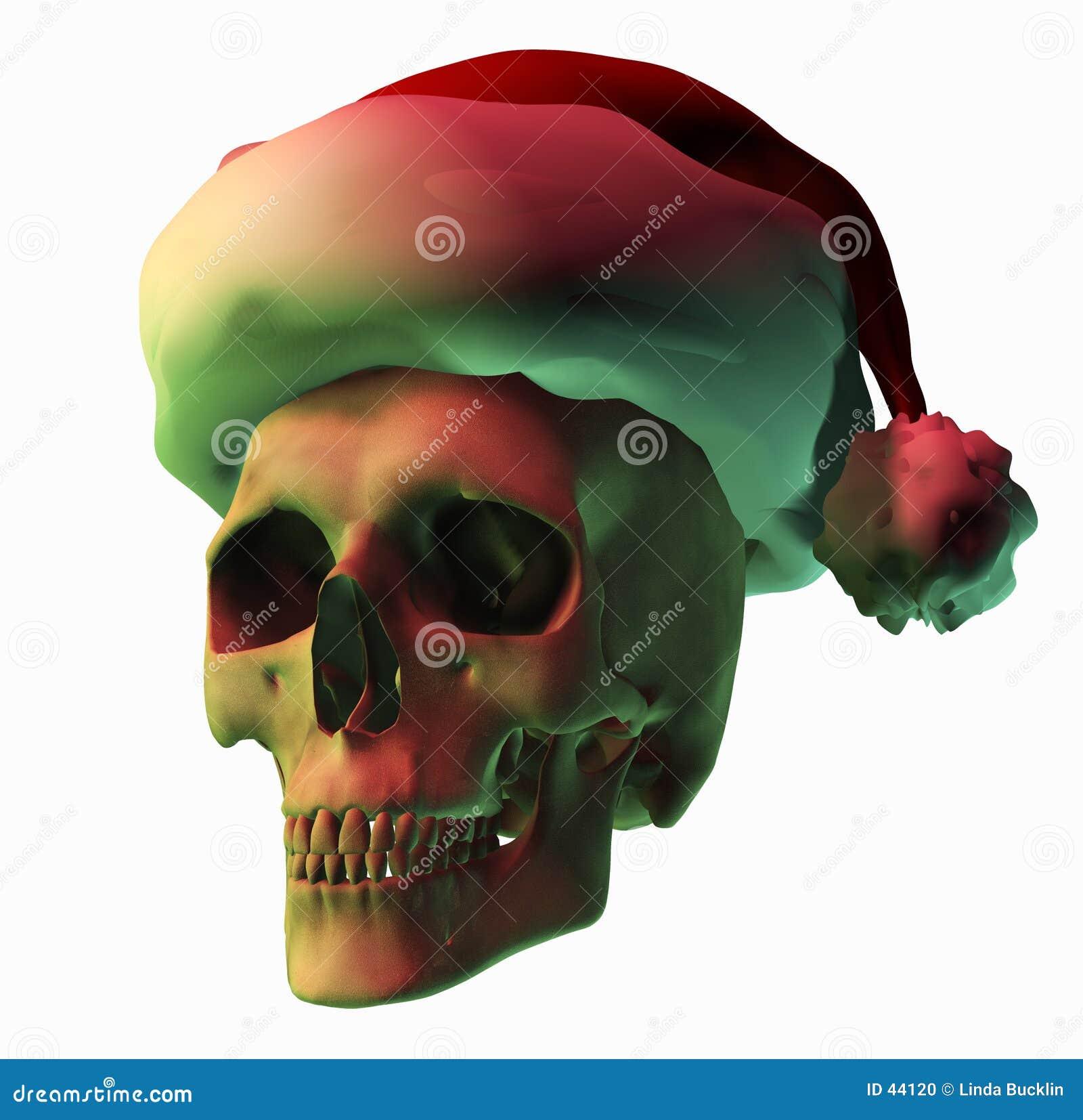 Download De Verschrikking Van Kerstmis Stock Illustratie - Illustratie bestaande uit kerstmis, schedel: 44120