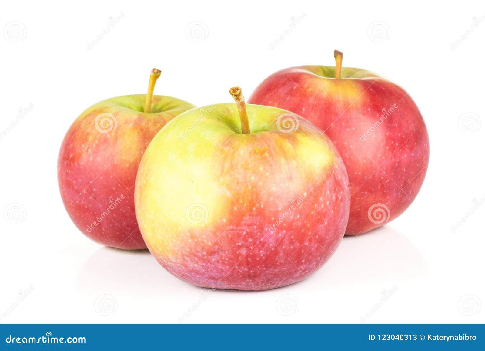 De verse rode appel James treurt geïsoleerd op wit