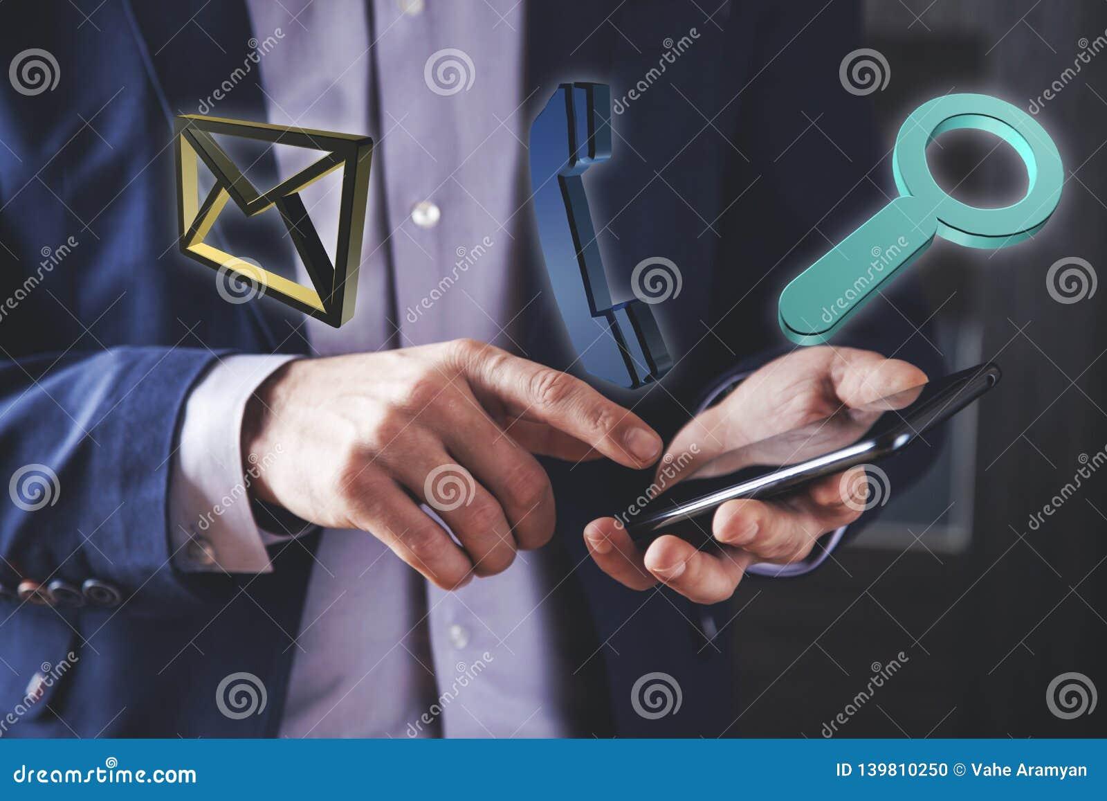 De vertoning van het handtouche screen