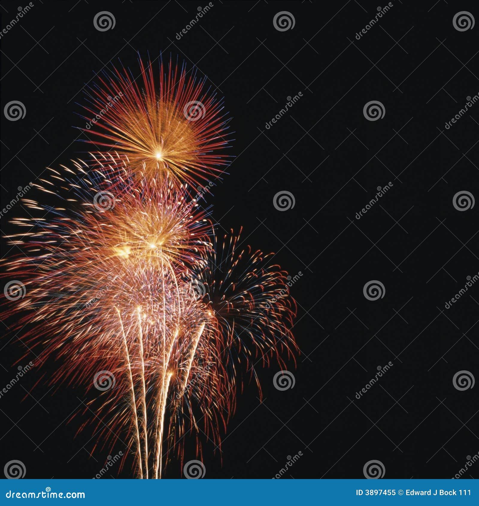 De vertoning van het vuurwerk