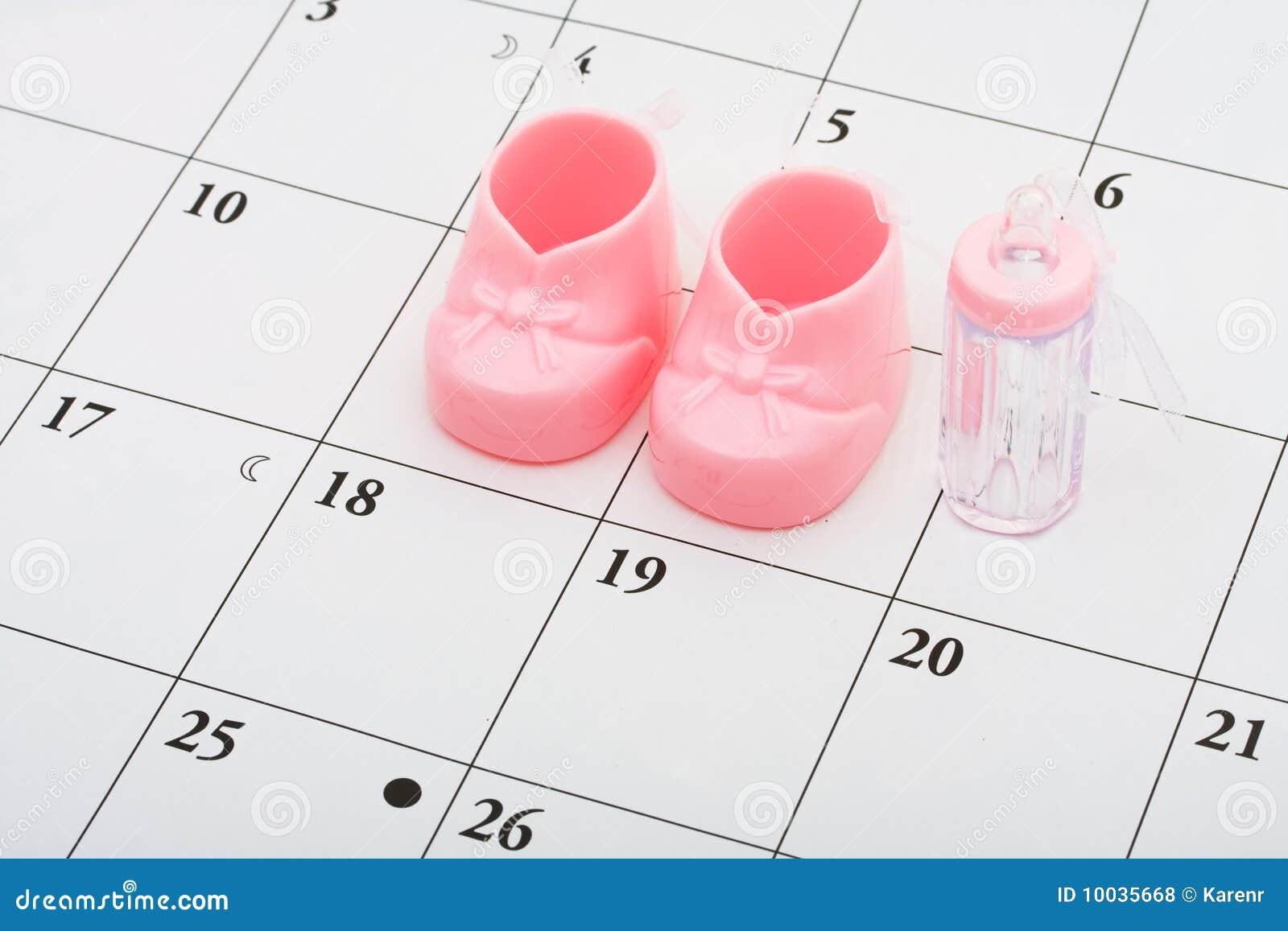 De vervaldatum van de baby