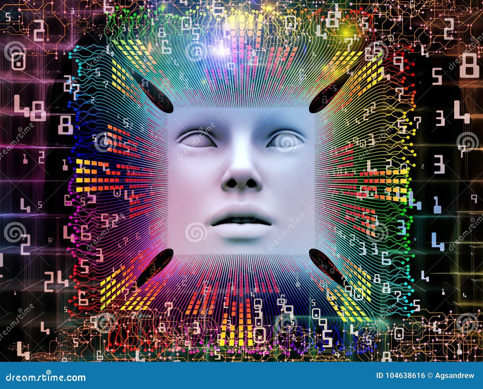 Download De Verwerking Van Super Menselijke AI Stock Illustratie - Illustratie bestaande uit effect, logica: 104638616