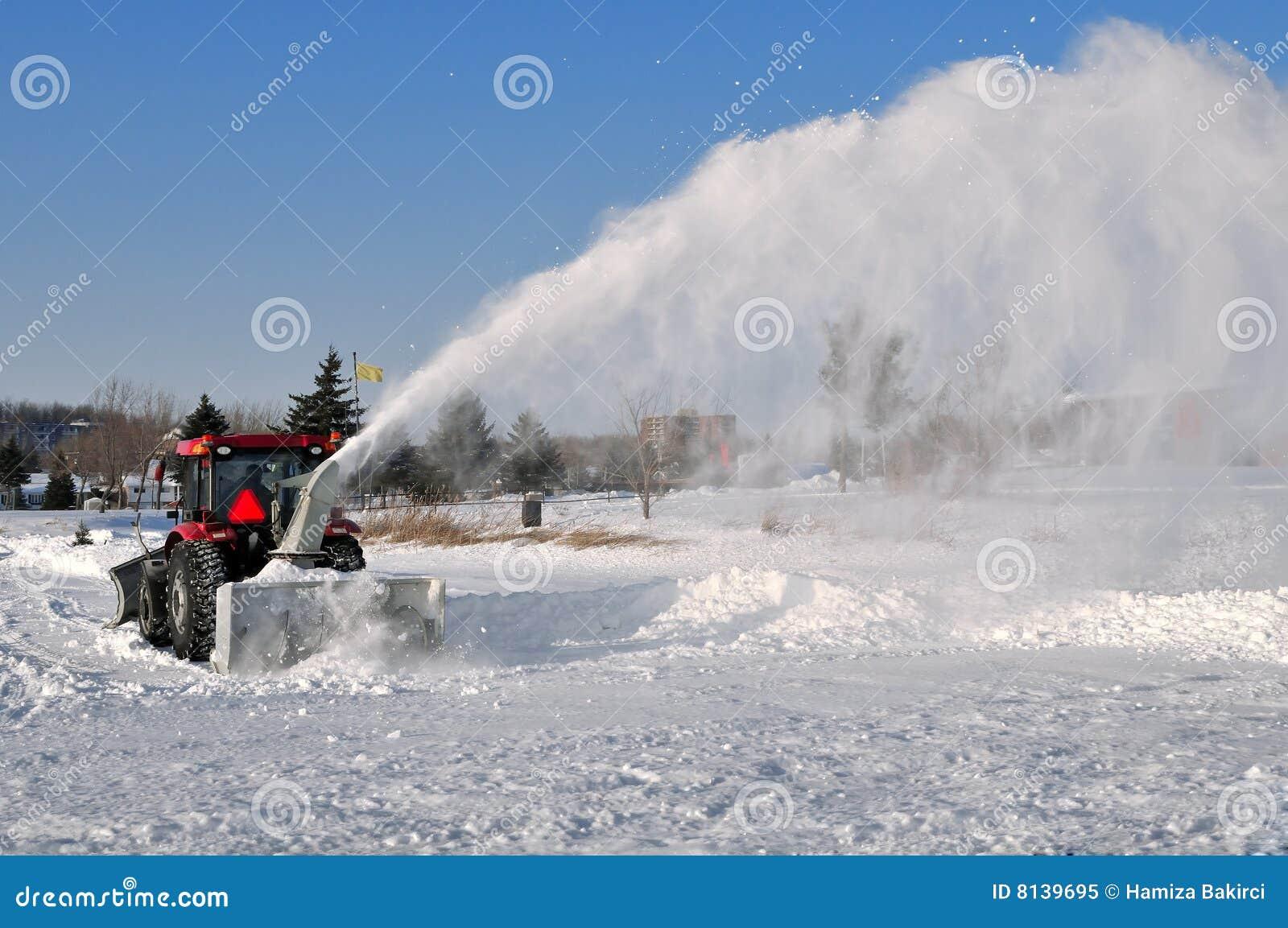 De verwijdering van de sneeuw