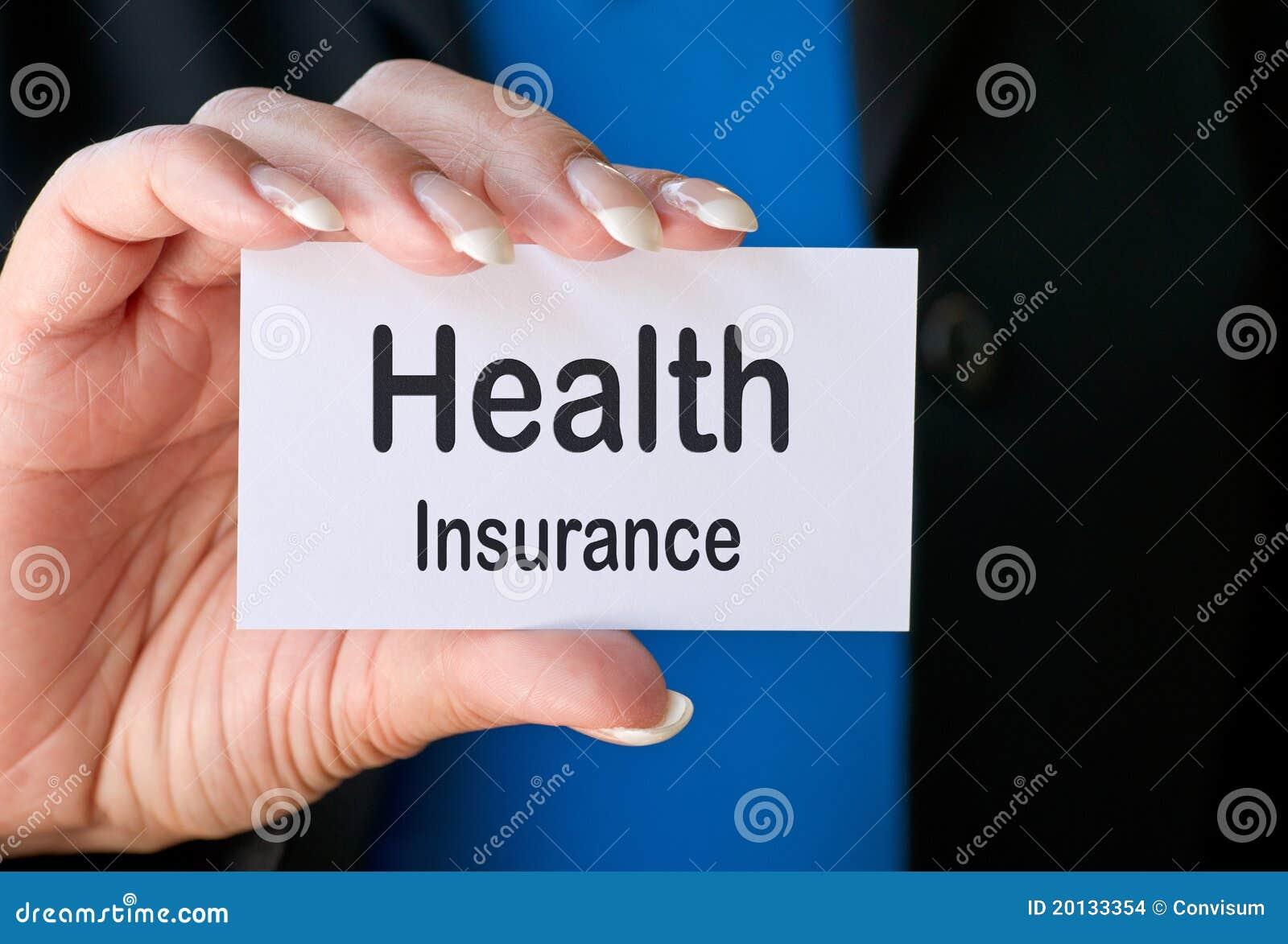 De verzekeringsadreskaartje van de gezondheid