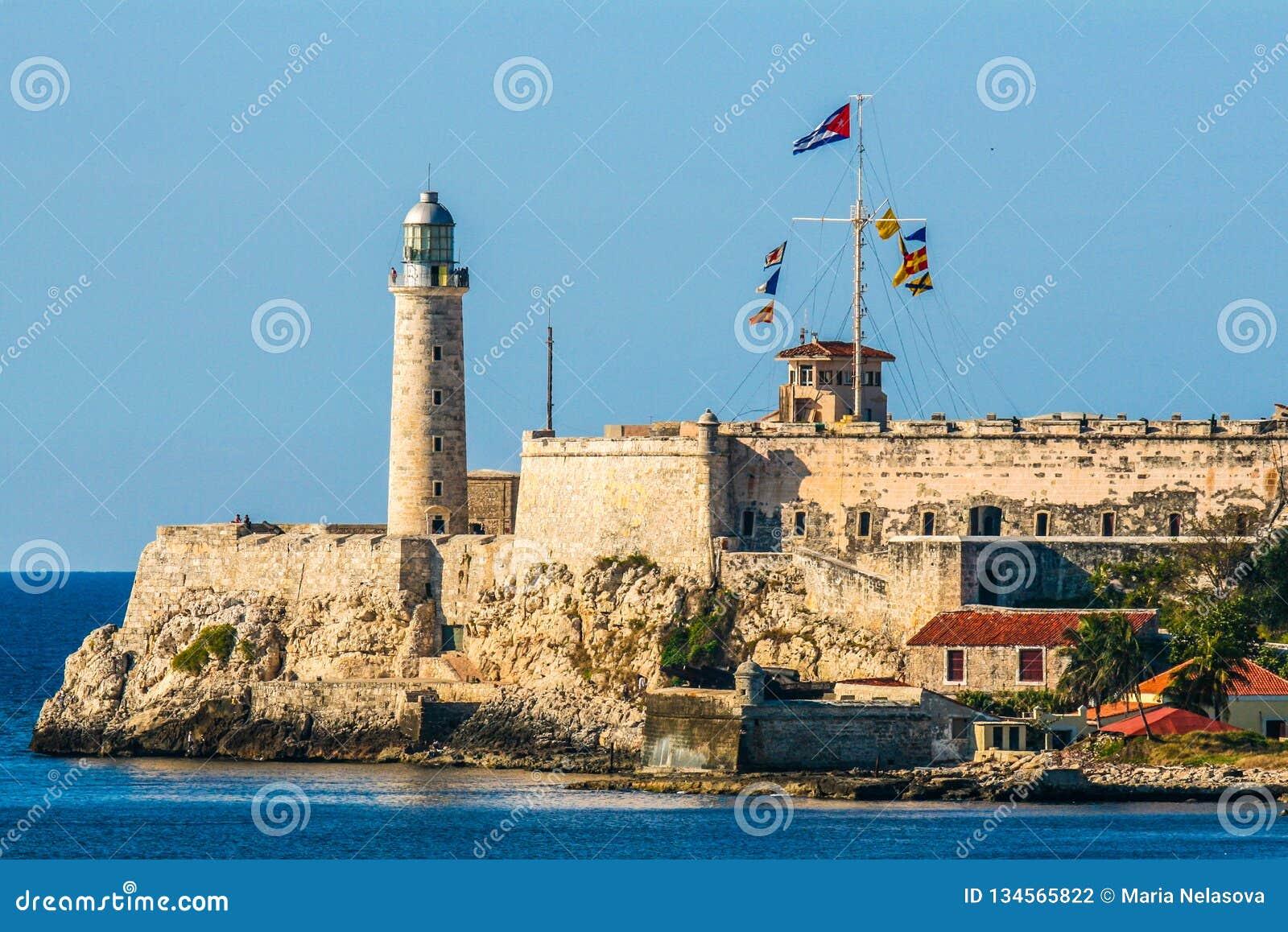 De vesting op de kust van Havana