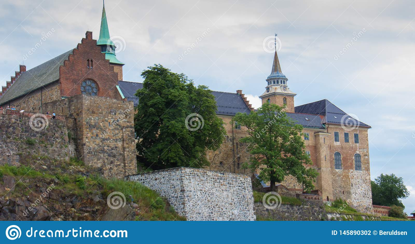 De vesting van Akershus in Oslo