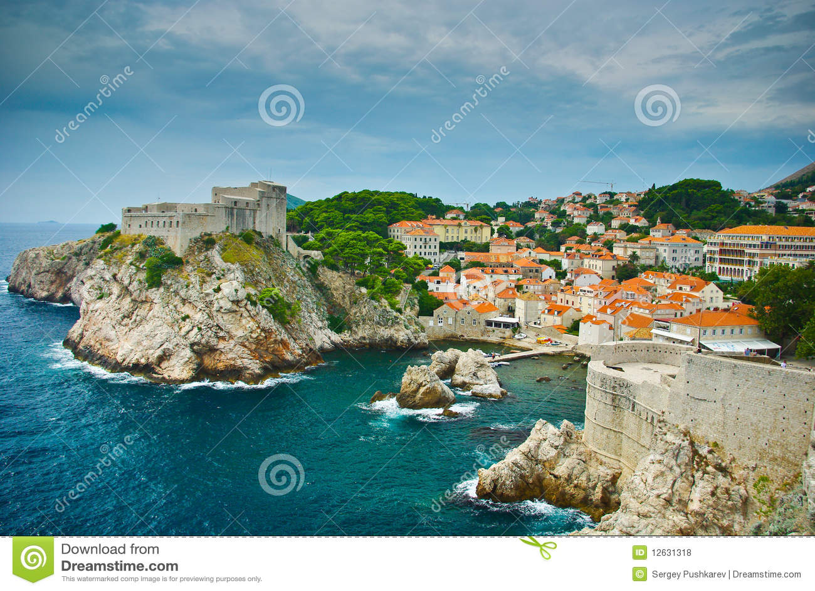 De vesting van Dubrovnik
