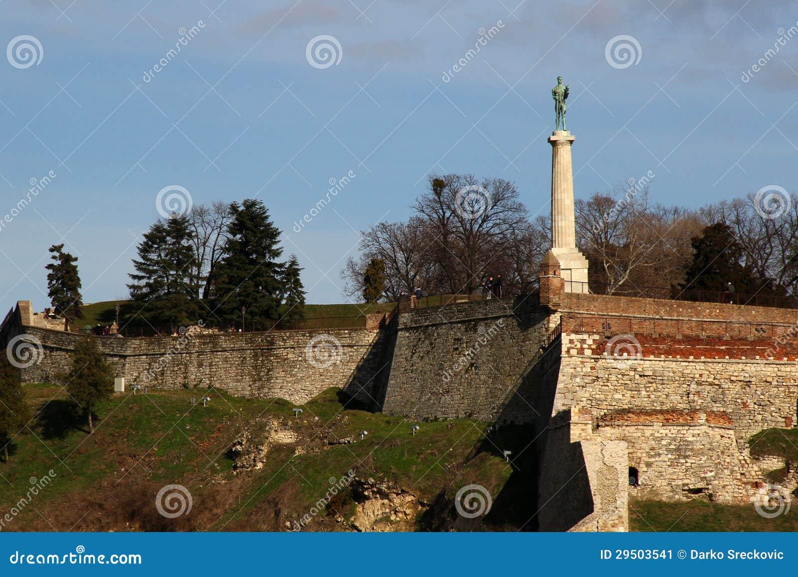De vesting van Kalemegdan in Belgrado