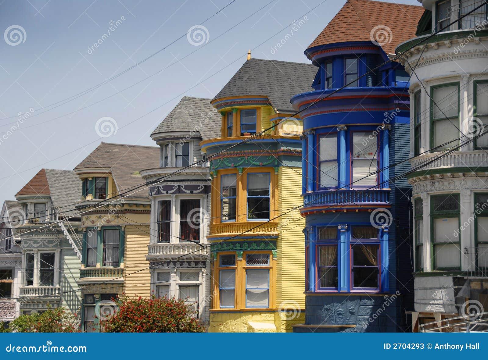 De victoriaanse huizen van san francisco stock foto 39 s afbeelding 2704293 - Huizen van de wereldbank ...