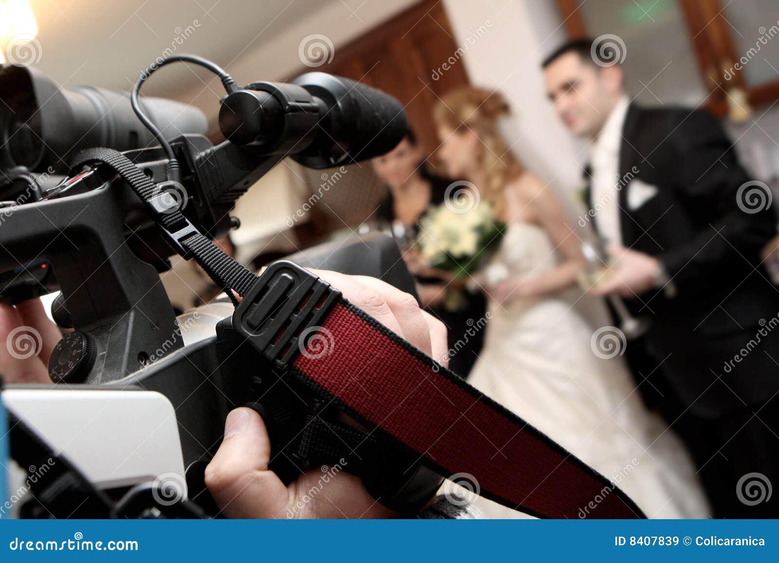 De video van het huwelijk
