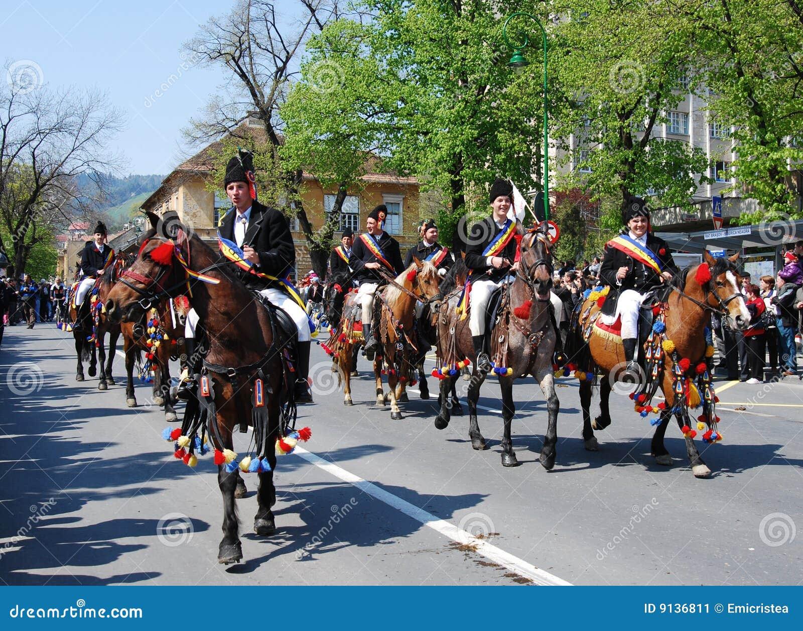 De vieringsdagen van de Stad van Brasov (Roemenië)