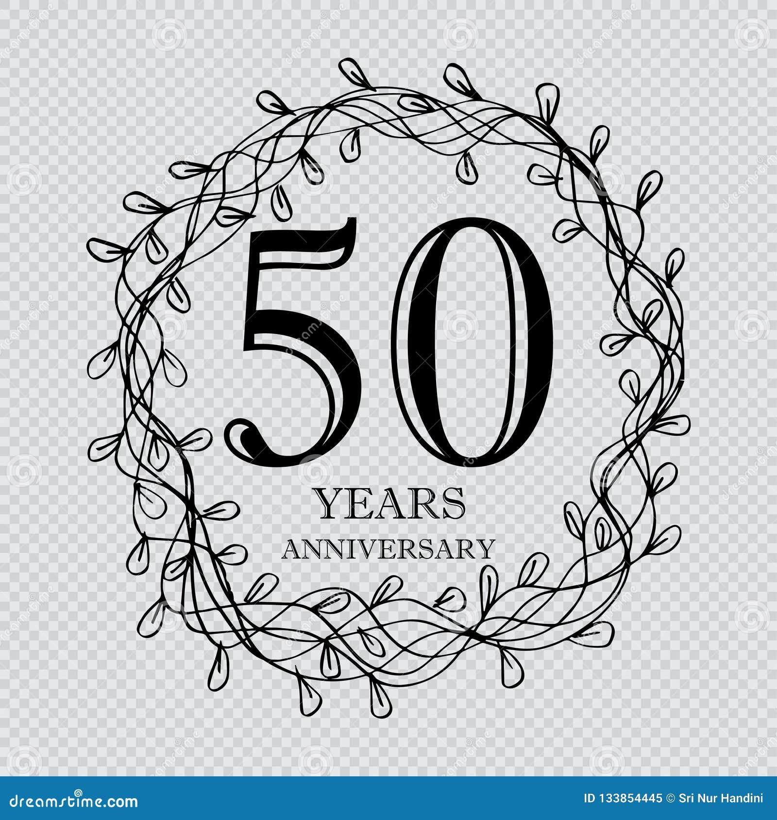 De vieringskaart van de 50 jaarverjaardag