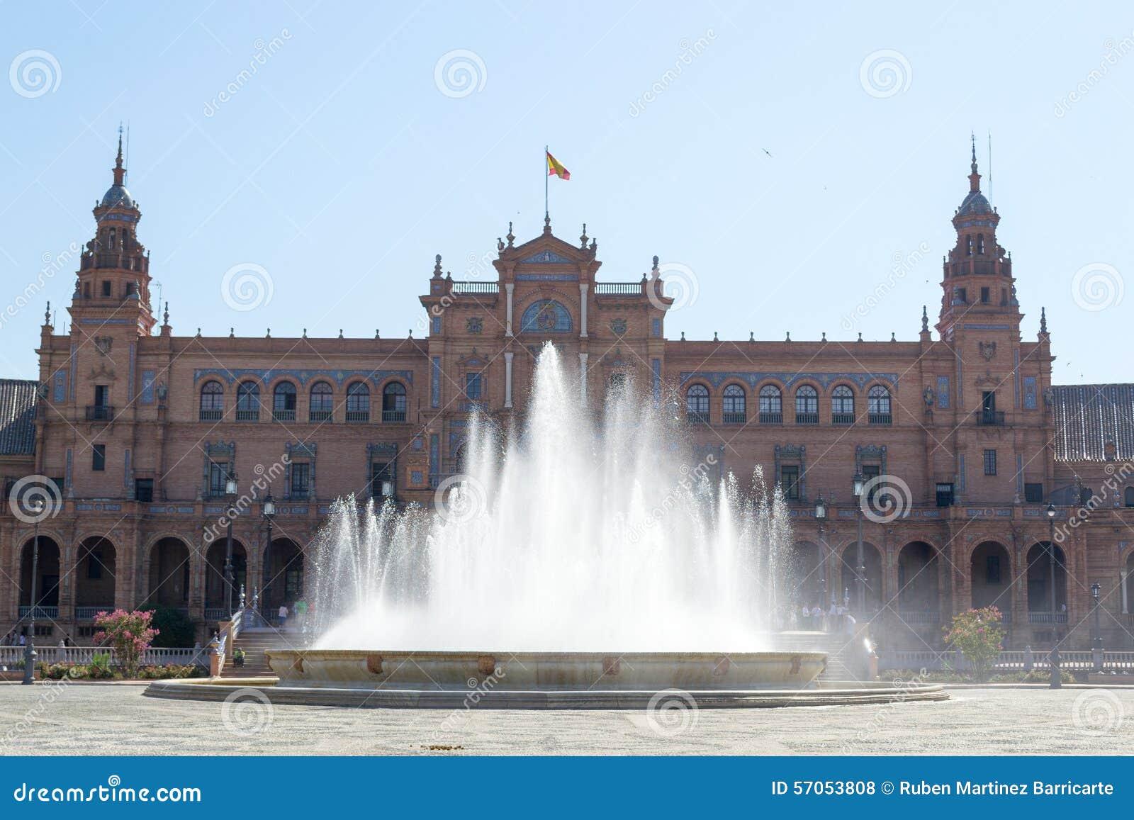 De vierkante fontein van Spanje