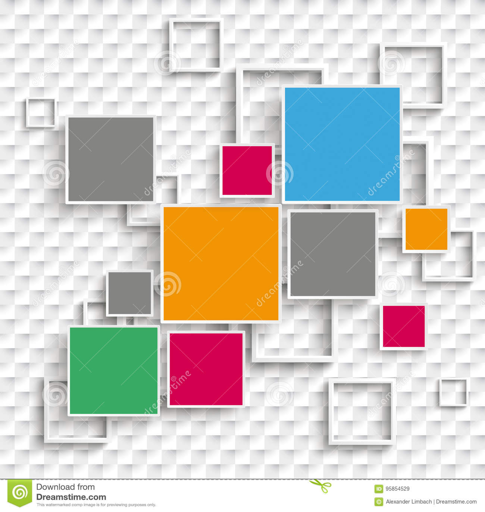 De vierkanten en de Kaders ontwerpen 5 Geruite Opties