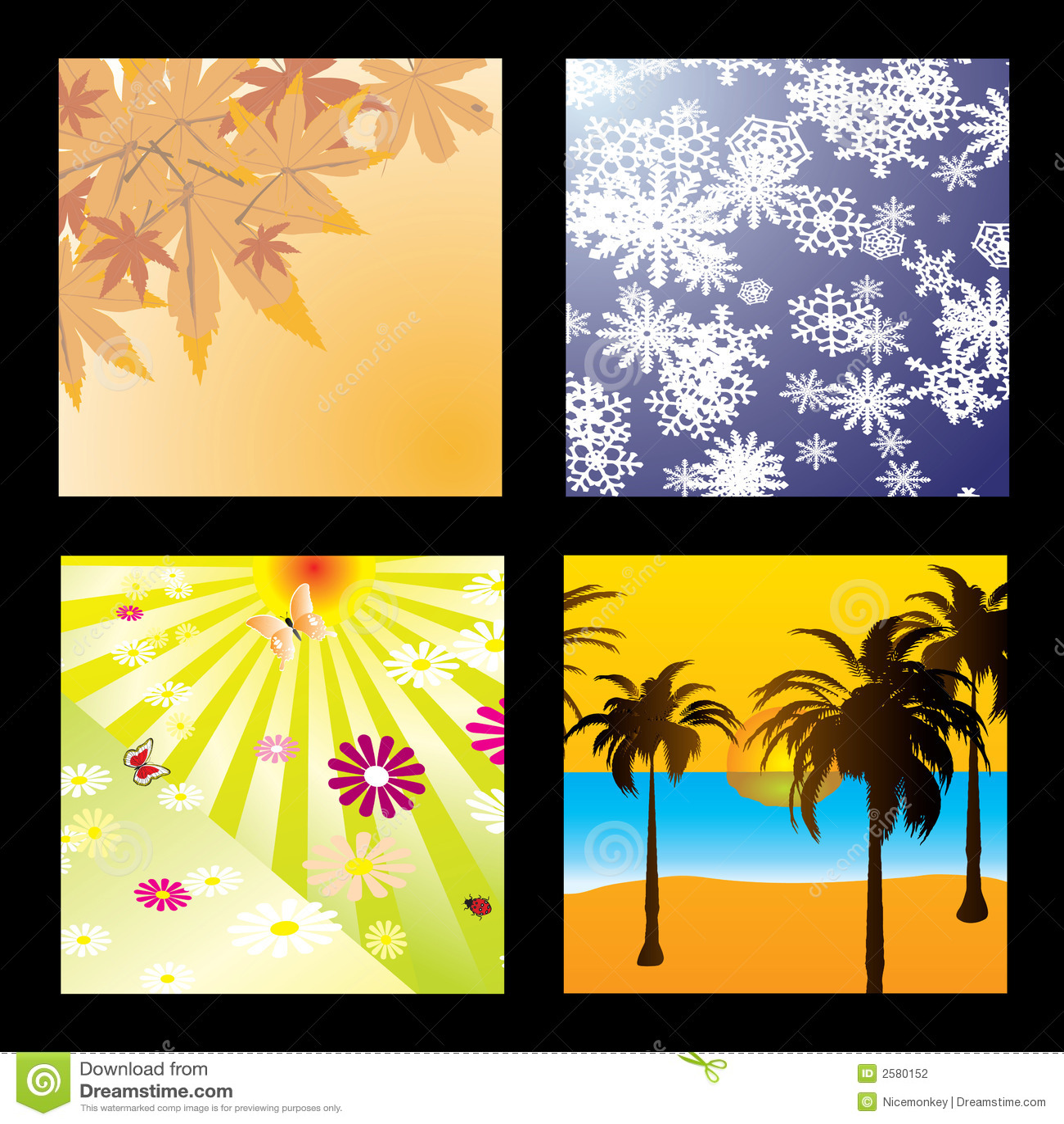 De vierkanten van het seizoen