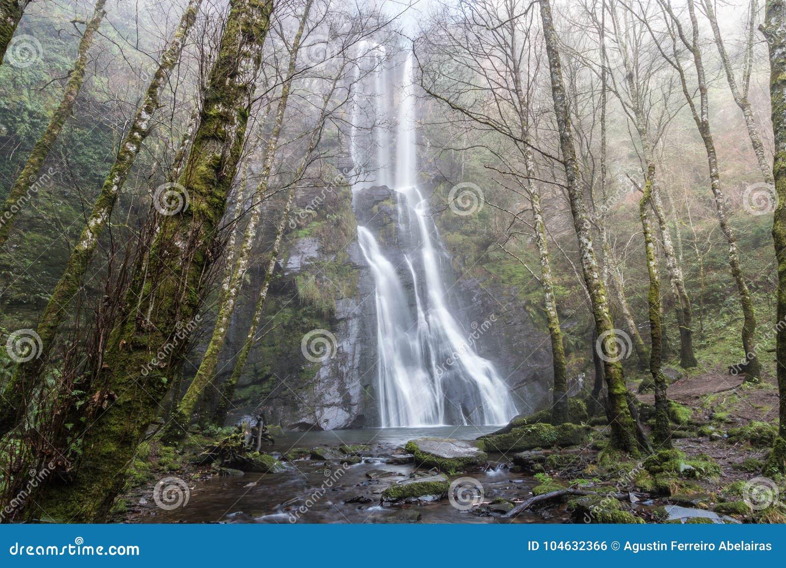Download De Vilagocende-waterval, In Fonsagrada Stock Foto - Afbeelding bestaande uit ongeveer, waterval: 104632366