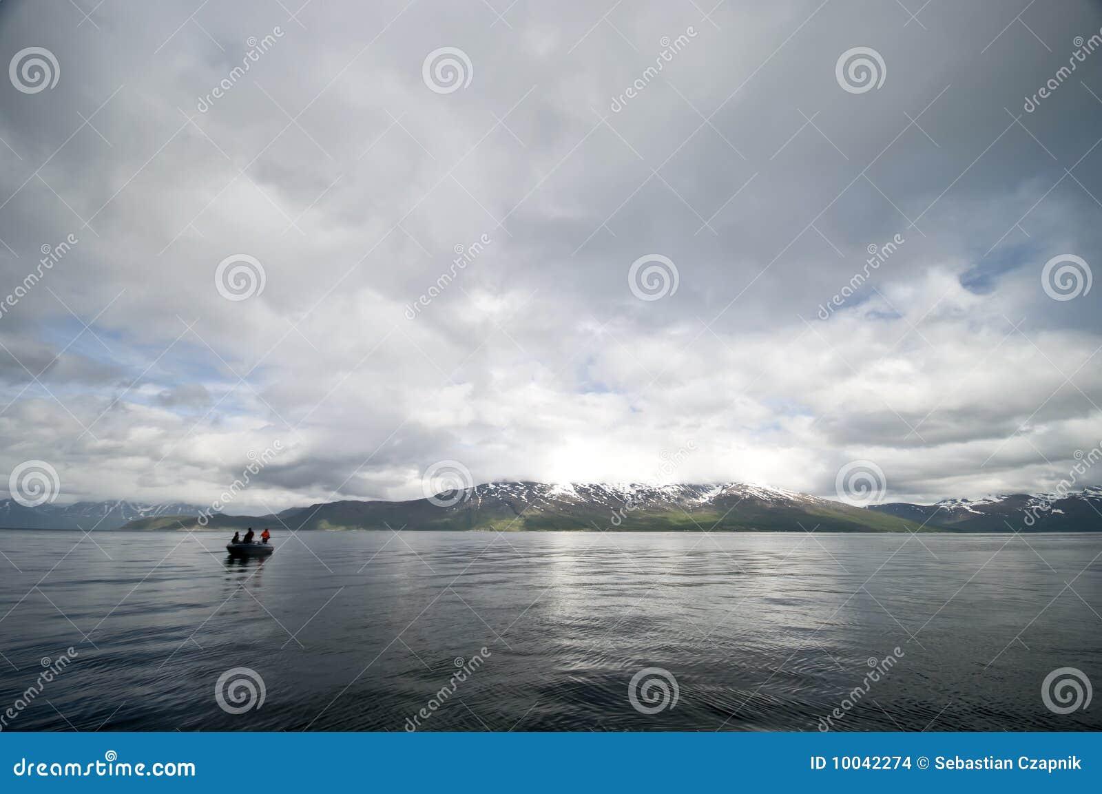 De visserij van de fjord