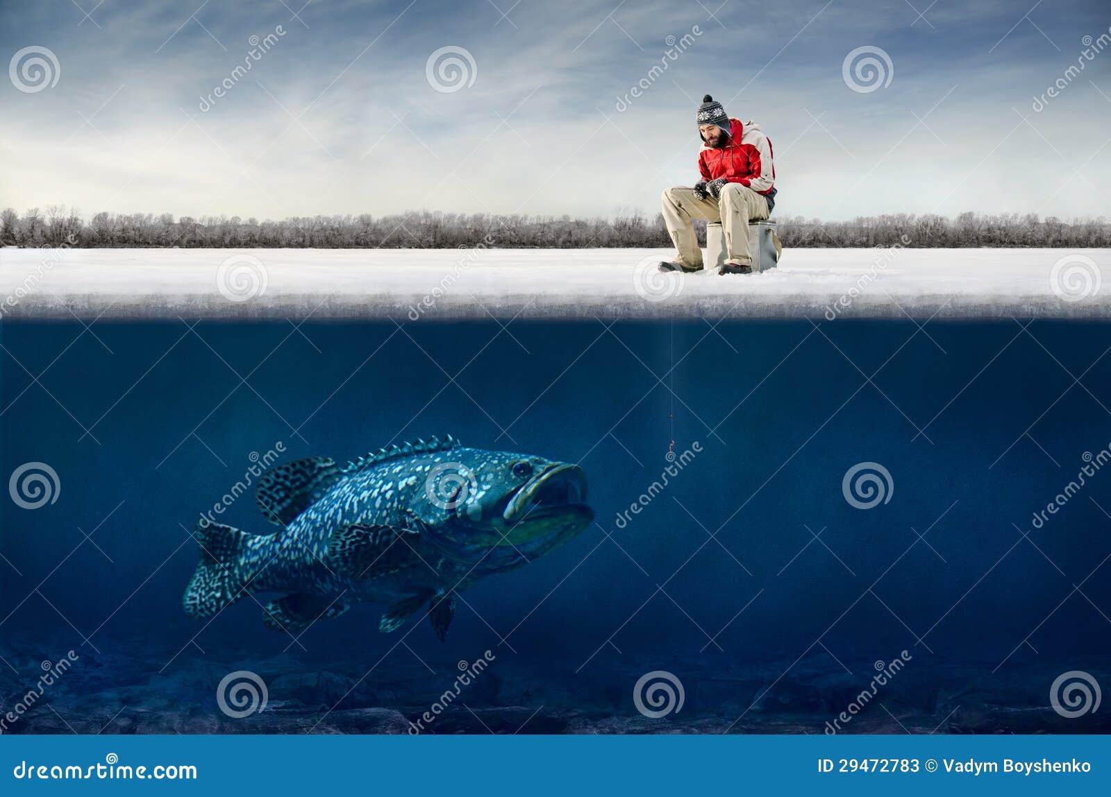 De visserij van het ijs