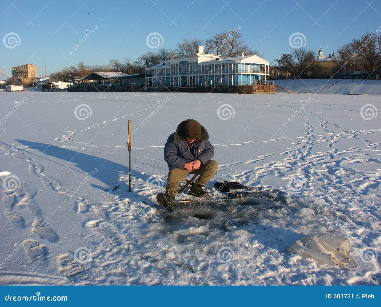 De visserijreis van de winter