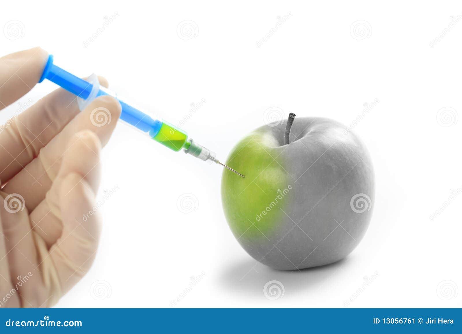 De Vitamine Van De Injectie In Appel Stock Afbeelding Afbeelding Bestaande Uit Achtergrond Naughty 13056761