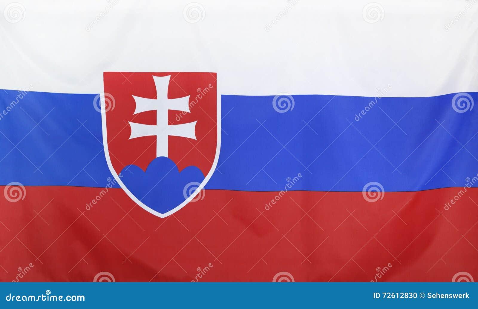 De Vlag echte stof van Slowakije