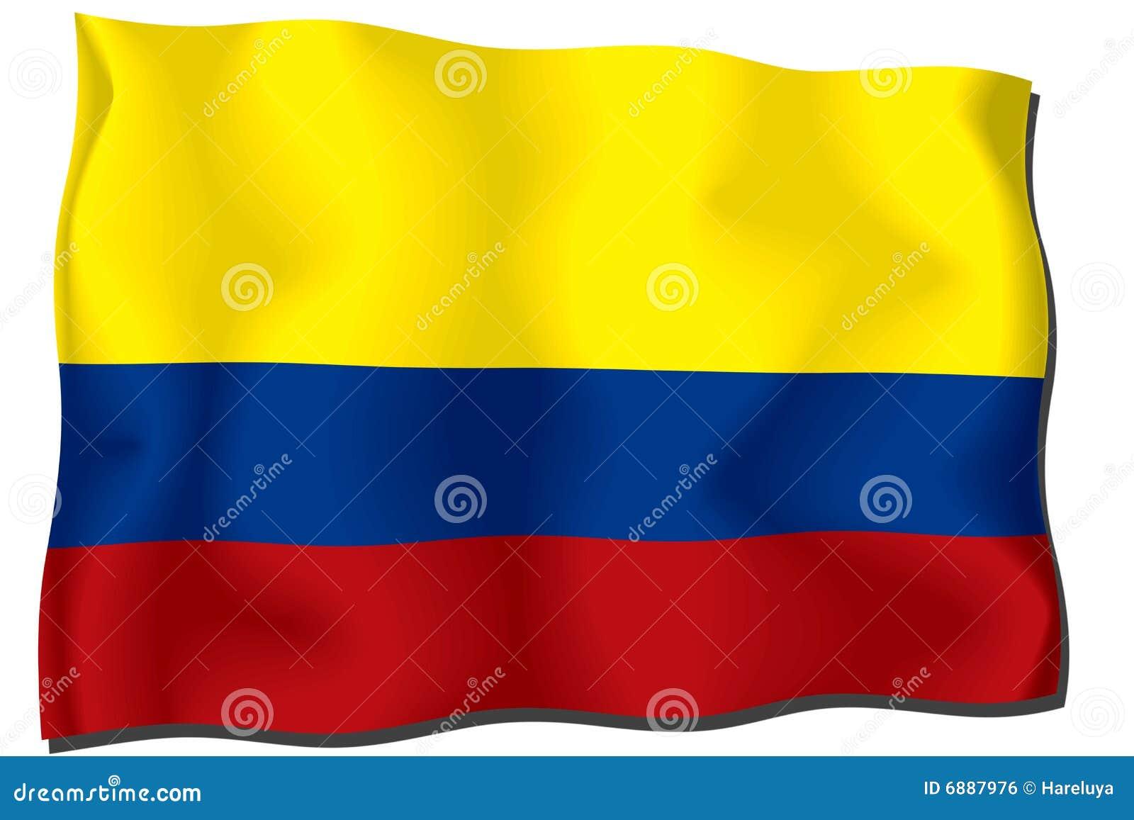 De Vlag van Colombia