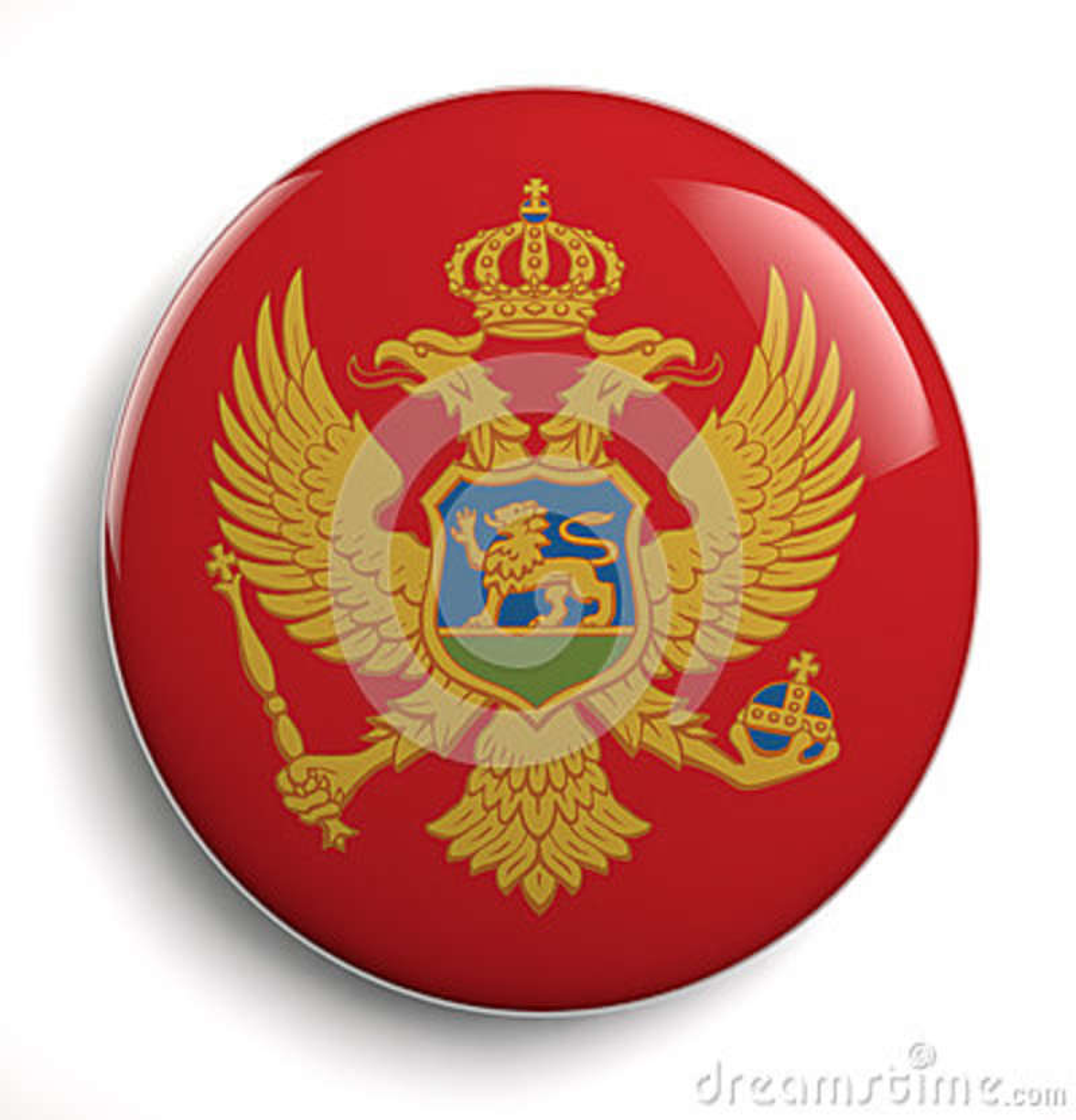 De vlag van de Monterzwarte