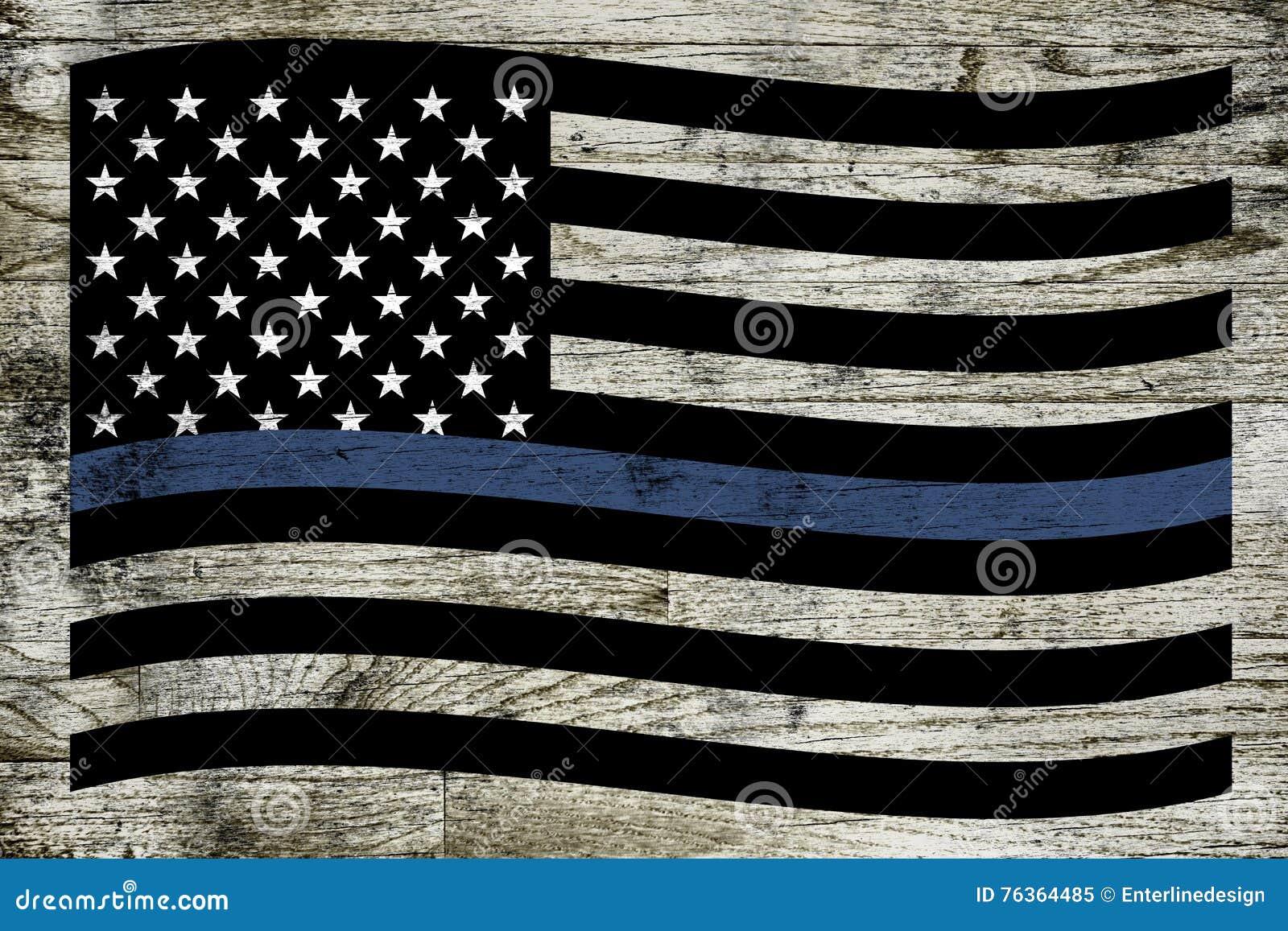 De Vlag van de politiesteun