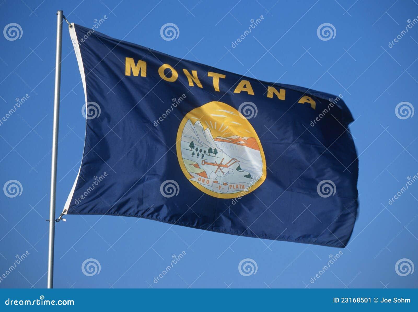 De Vlag van de staat van Montana