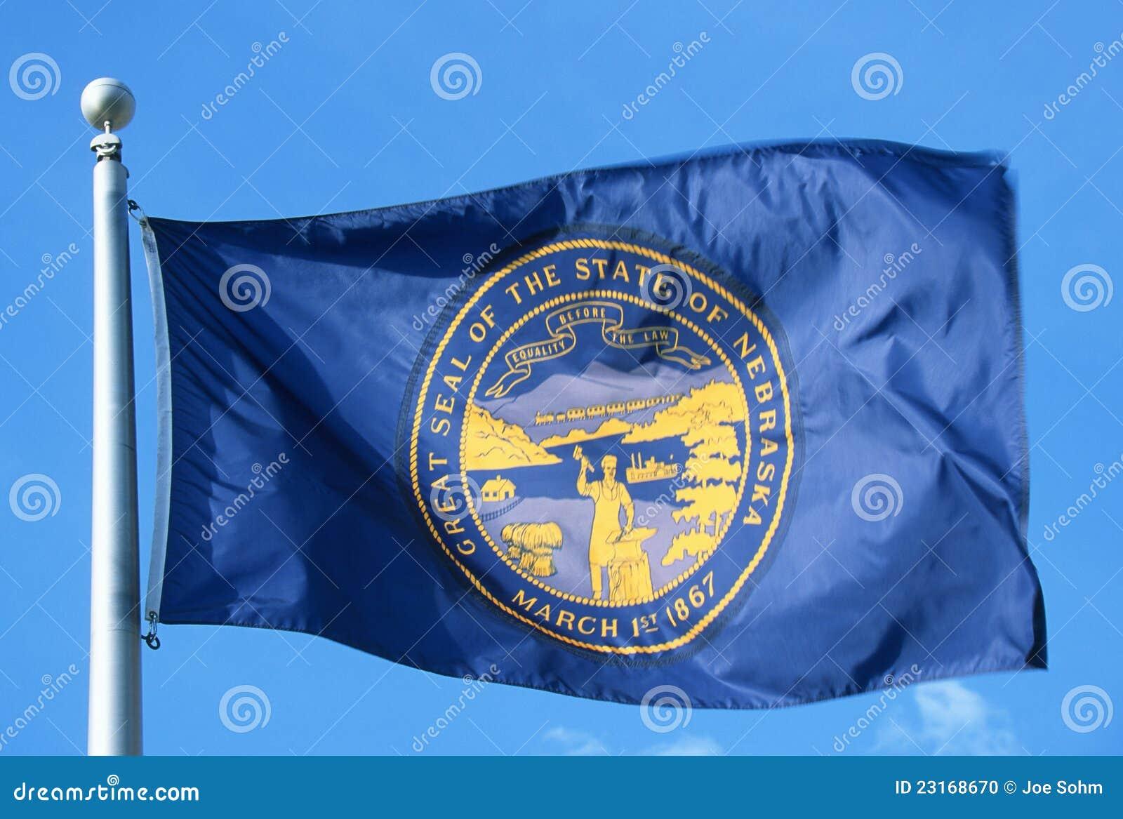 De Vlag van de staat van Nebraska