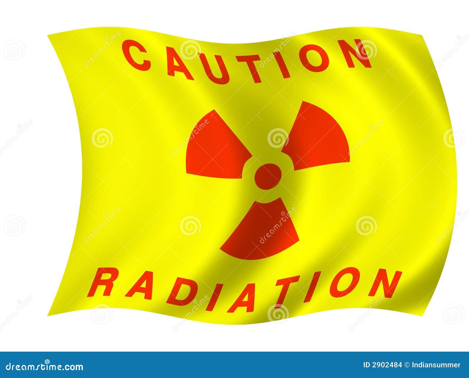 De vlag van de straling