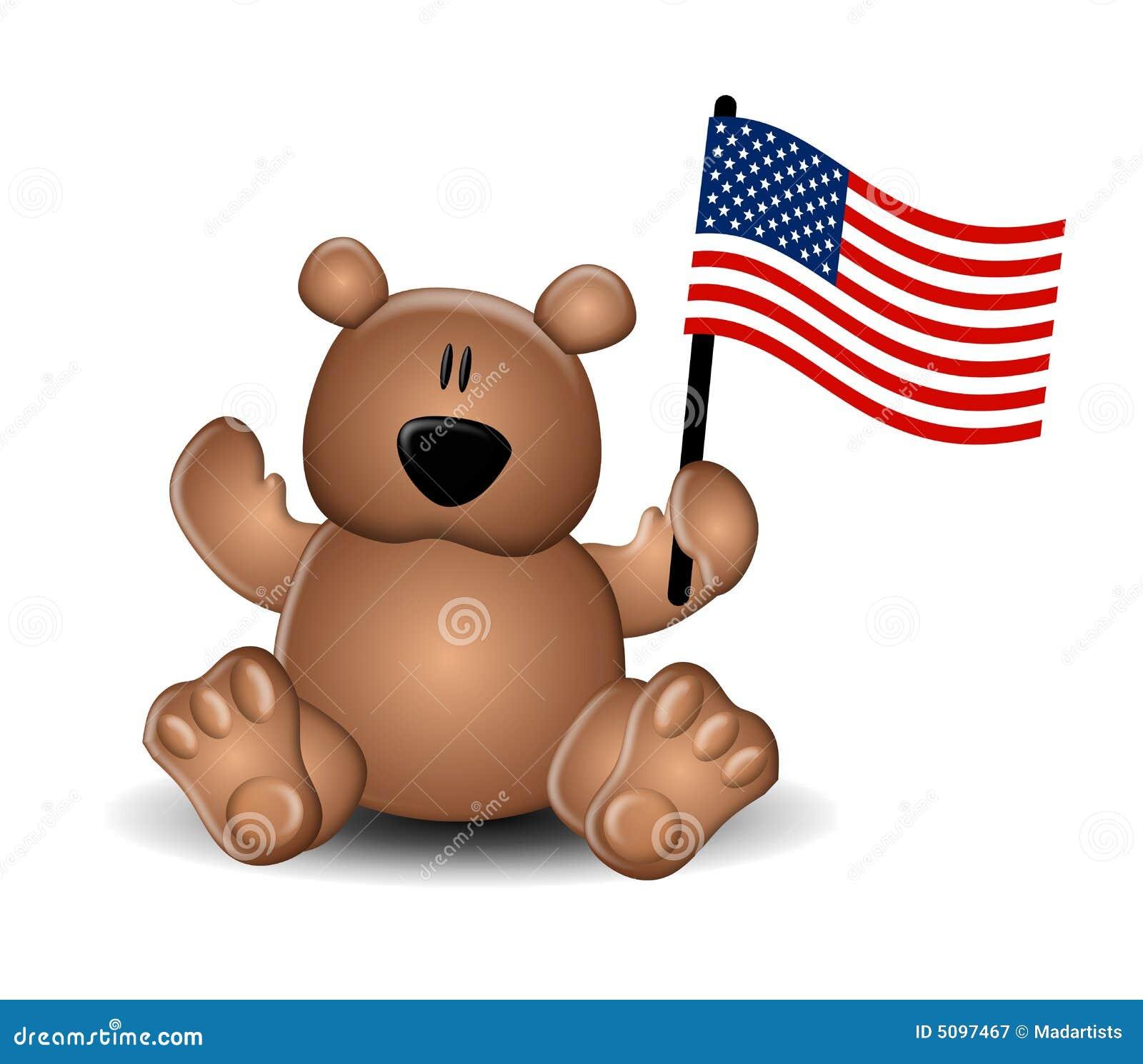 De Vlag van de Teddybeer van de Dag van de onafhankelijkheid