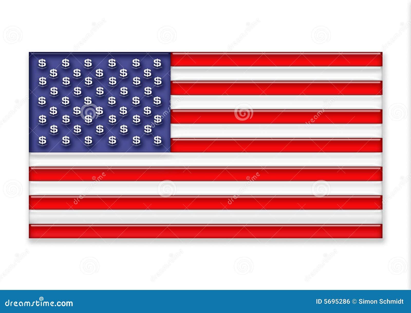 De vlag van de V.S.