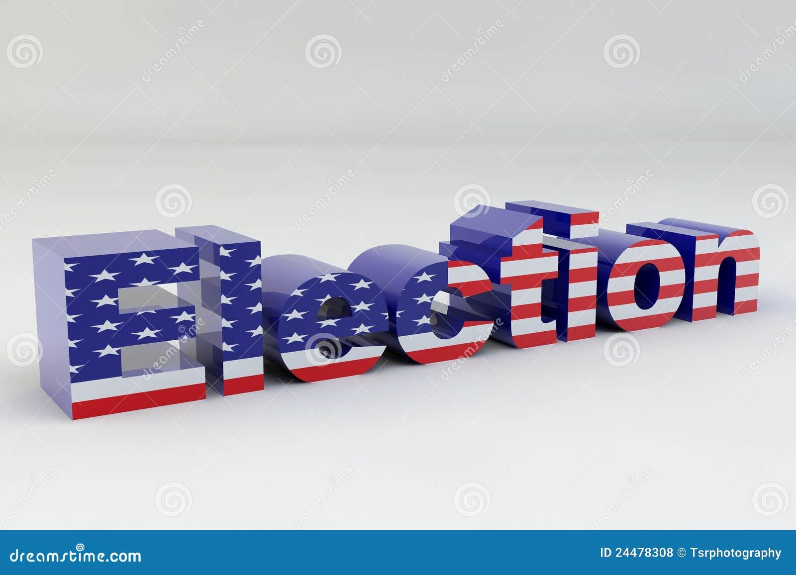 De Vlag van de Verkiezing van de V.S.