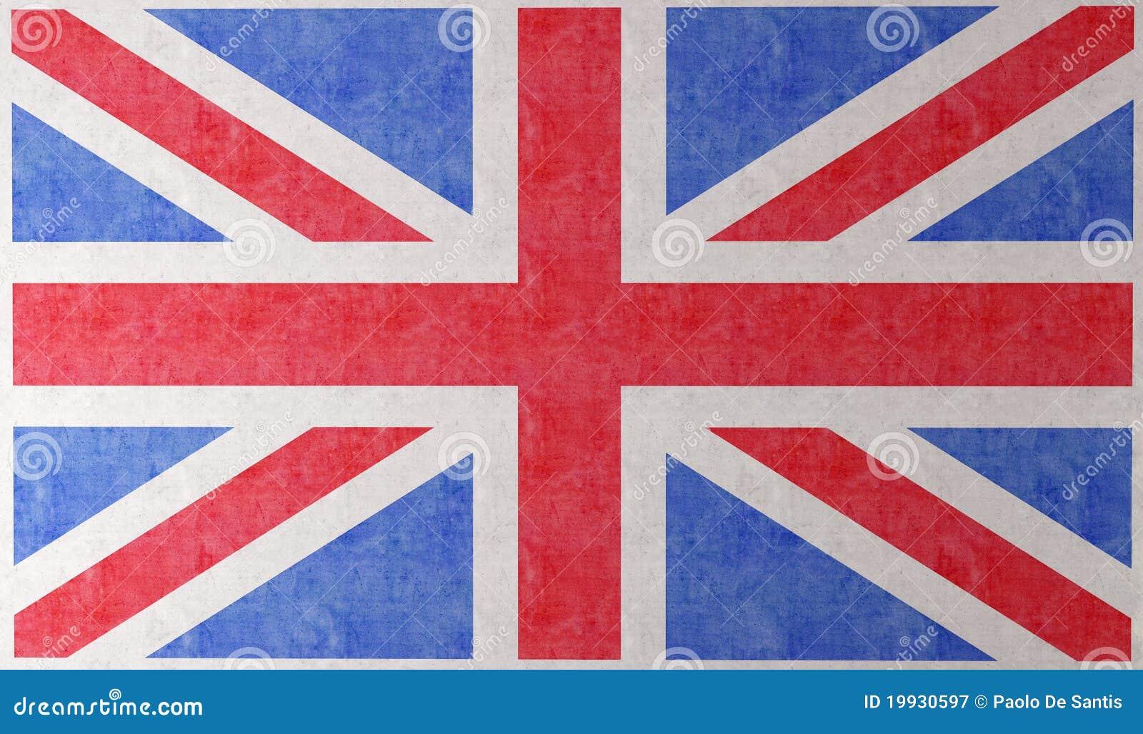 De vlag van engeland op muur royalty vrije stock fotografie afbeelding 19930597 - Coloriage drapeau angleterre ...