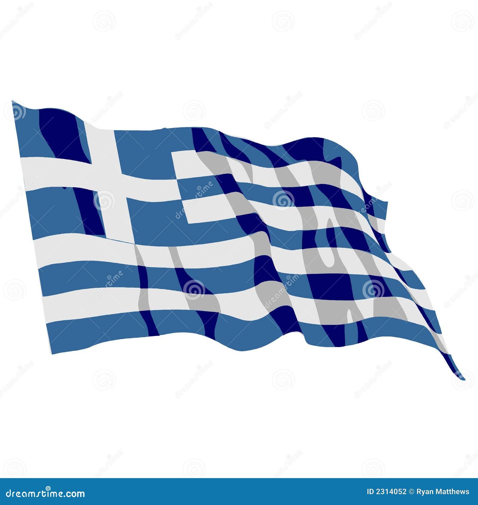 De Vlag van Griekenland