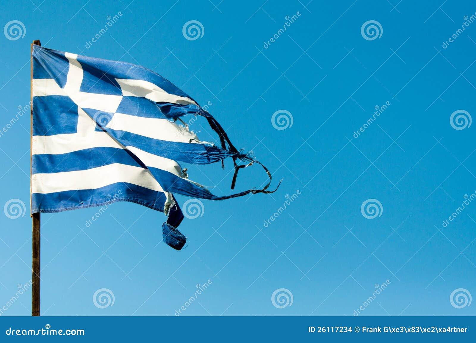 De Vlag van Griekenland van de verlaging