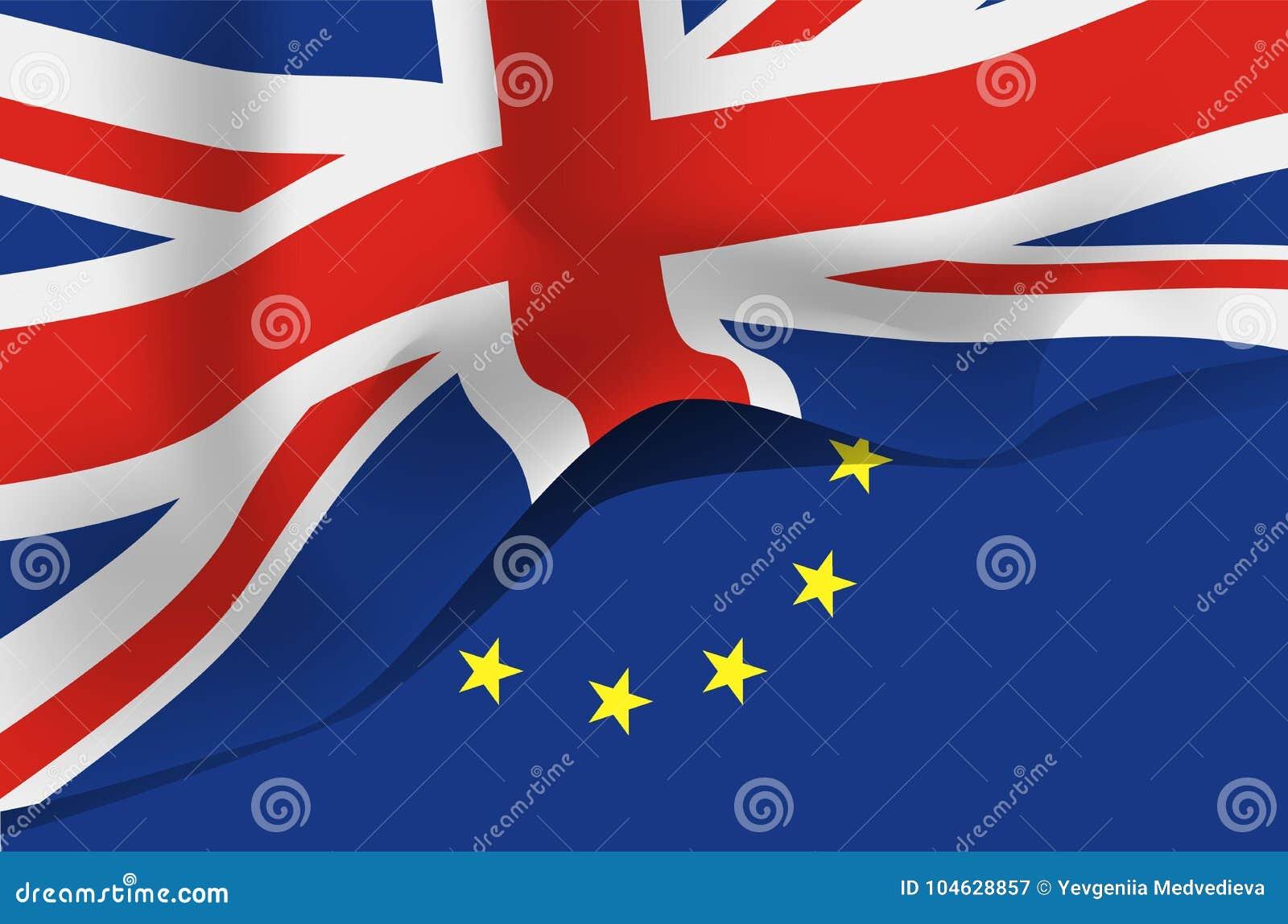 Download De Vlag Van Groot-Brittannië, Het Verenigd Koninkrijk Vector Illustratie - Illustratie bestaande uit embleem, groot: 104628857