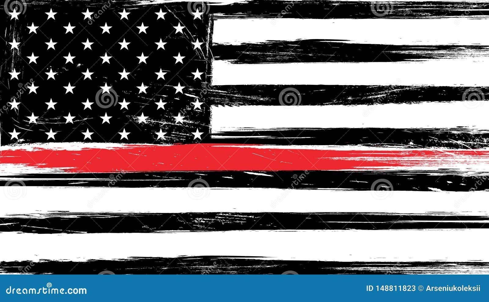 De vlag van de Grungev.s. met een dunne rode lijn