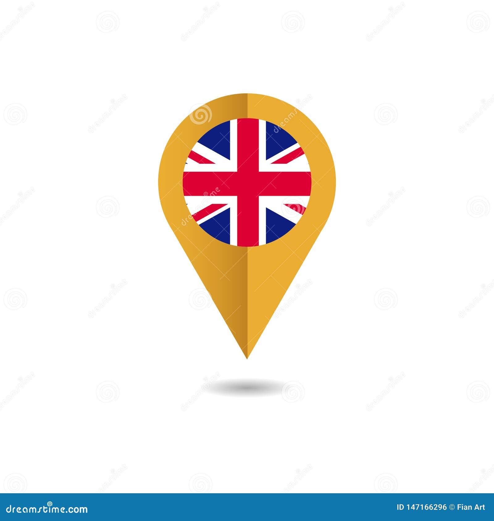De vlag van het Verenigd Koninkrijk