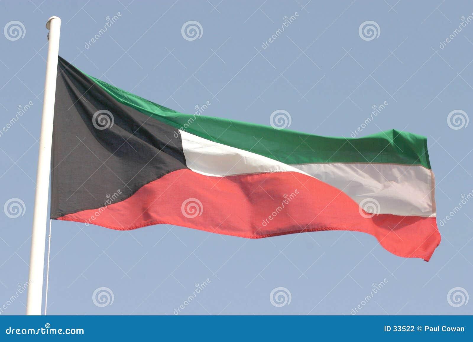 De vlag van Koeweit